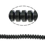 Beads magnetik kuqe e mbylltë, Rondelle, e zezë, Një, 4x2mm, : 1mm, :15.5Inç, 10Fillesat/Shumë,  Shumë