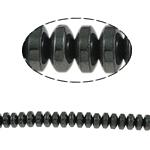 Beads magnetik kuqe e mbylltë, Rondelle, e zezë, Një, 6x3mm, : 1.5mm, :15.5Inç, 10Fillesat/Shumë,  Shumë