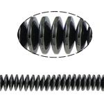 Beads magnetik kuqe e mbylltë, Numërator, e zezë, Një, 12x3mm, : 2mm, :15.5Inç, 10Fillesat/Shumë,  Shumë