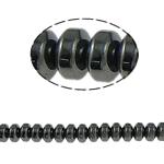 Non-Beads magnetik kuqe e mbylltë, Jo-magnetike kuqe e mbylltë, Rondelle, e zezë, Një, 6x4mm, : 1.5mm, :15.5Inç, 10Fillesat/Shumë,  Shumë