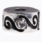 Tunxh European Clip, Rondelle, asnjë, , nikel çojë \x26amp; kadmium falas, 13x6mm, : 3mm, 10PC/Qese,  Qese