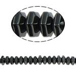Non-Beads magnetik kuqe e mbylltë, Jo-magnetike kuqe e mbylltë, Rondelle, e zezë, Një, 8x4mm, : 1.5mm, :15.5Inç, 10Fillesat/Shumë,  Shumë