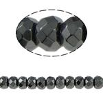 Beads magnetik kuqe e mbylltë, Rondelle, e zezë, Një, 8x6mm, : 1.5mm, :15.5Inç, 10Fillesat/Shumë,  Shumë