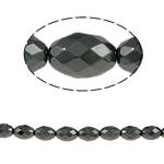 Beads magnetik kuqe e mbylltë, Oval, e zezë, Një, 8x6mm, : 1mm, :15.5Inç, 10Fillesat/Shumë,  Shumë