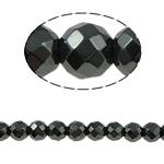 Beads magnetik kuqe e mbylltë, Round, e zezë, Një, 6x6mm, : 1.5mm, :15.5Inç, 10Fillesat/Shumë,  Shumë