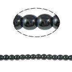 Beads magnetik kuqe e mbylltë, Round, e zezë, Një, 4mm, : 1.5mm, :15.5Inç, 10Fillesat/Shumë,  Shumë