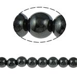 Magnetische Hämatit Perlen, rund, schwarz, Grade A, 12mm, Bohrung:ca. 2mm, Länge:15.5 ZollInch, 10SträngeStrang/Menge, verkauft von Menge