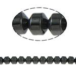 Beads magnetik kuqe e mbylltë, Kolonë, e zezë, Një, 6x6mm, : 1.5mm, :15.5Inç, 10Fillesat/Shumë,  Shumë