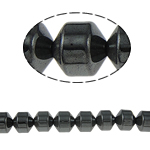 Beads magnetik kuqe e mbylltë, Kolonë, e zezë, Një, 12x12mm, : 2mm, :15.5Inç, 10Fillesat/Shumë,  Shumë