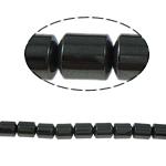 Beads magnetik kuqe e mbylltë, Kolonë, e zezë, Një, 4x5mm, : 1mm, :15.5Inç, 10Fillesat/Shumë,  Shumë