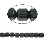Magnetische Hämatit Perlen, Zylinder, schwarz, Grade A, 6x6mm, Bohrung:ca. 1.5mm, Länge:15.5 ZollInch, 10SträngeStrang/Menge, verkauft von Menge