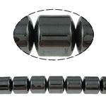 Beads magnetik kuqe e mbylltë, Kolonë, e zezë, Një, 10x10mm, : 1.5mm, :15.5Inç, 10Fillesat/Shumë,  Shumë