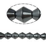 Non-Beads magnetik kuqe e mbylltë, Jo-magnetike kuqe e mbylltë, Bicone, e zezë, Një, 10x10mm, : 1.5mm, :15.5Inç, 10Fillesat/Shumë,  Shumë