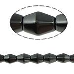 Magnetische Hämatit Perlen, Doppelkegel, schwarz, Grade A, 8x12mm, Bohrung:ca. 1.5mm, Länge:15.5 ZollInch, 10SträngeStrang/Menge, verkauft von Menge