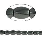 Non-Beads magnetik kuqe e mbylltë, Jo-magnetike kuqe e mbylltë, Kthesë, e zezë, Një, 5x8mm, : 1.5mm, :15.5Inç, 10Fillesat/Shumë,  Shumë