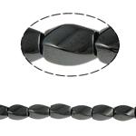 Magnetische Hämatit Perlen, Twist, schwarz, Grade A, 6x9mm, Bohrung:ca. 1.5mm, Länge:15.5 ZollInch, 10SträngeStrang/Menge, verkauft von Menge