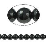 Magnetische Hämatit Perlen, rund, schwarz, Grade A, 12x12mm, Bohrung:ca. 1mm, Länge:15.5 ZollInch, 10SträngeStrang/Menge, verkauft von Menge