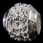 Beads European aliazh zink, Alloy zink, Daulle, pa karrem, , nikel çojë \x26amp; kadmium falas, 11x9mm, : 4.5mm, 10PC/Qese,  Qese