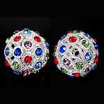 Beads bizhuteri Diamant i rremë, Round, asnjë, me diamant i rremë, 25x25mm, : 4mm, 20PC/Qese,  Qese