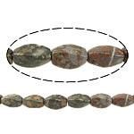 Beads bizhuteri gur i çmuar, Leopard Skin Stone, Oval, natyror, 16x7.50mm, : 1.5mm, : 15.5Inç, 10Fillesat/Shumë,  Shumë