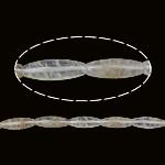 Glass Beads shalqi, Yellow Shalqi, Oval, natyror, 30x10.50mm, : 1mm, : 15Inç, 10Fillesat/Shumë,  Shumë