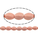 Beads Natyrore Coral, Coral sintetike, Kthesë, asnjë, rozë, 10x6mm, : 1mm, : 15Inç, 38PC/Fije floku,  15Inç,