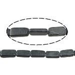 Schwarze Stein Perlen, schwarzer Stein, Rechteck, natürlich, 17.5x7x5-17.5x11x4.5mm, Bohrung:ca. 1.5mm, ca. 23PCs/Strang, verkauft per ca. 15.5 ZollInch Strang