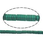 Beads malakit, Drejtkëndësh, 8.50x4mm, : 1mm, : 15.5Inç, 10Fillesat/Shumë,  Shumë