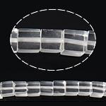 Natürliche klare Quarz Perlen, Klarer Quarz, Würfel, 6x6x6mm, Bohrung:ca. 1mm, ca. 65PCs/Strang, verkauft per ca. 16 ZollInch Strang