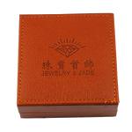 Boxes byzylyk lëkure, Lëkurë, Katror, i kuq, 90x90x33mm,  PC