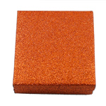 Byzylyk karton Box, with Velveteen, Katror, kuq pak portokalli, 88x91x32mm,  PC
