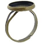 Bezel Brass Ring Base, Tunxh, Ngjyra antike bronz i praruar, asnjë, , nikel çojë \x26amp; kadmium falas, 14x14x2mm, 12.5x12.5mm, : 17mm, : 12mm, :6.5, 500PC/Qese,  Qese