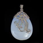 Deti Pendants opal, Deti Opal, with Tunxh, Lot, 43x28x7mm, : 7mm, 10PC/Qese,  Qese