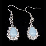 Një palë vathë gur i çmuar, Deti Opal, Lot, asnjë, me diamant i rremë, asnjë, 45x14x7mm, : 1.77Inç, 10Çiftet/Qese,  Qese