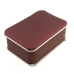 Varëse lëkure Box, Lëkurë, Drejtkëndësh, 112x74x40mm, 12PC/Qese,  Qese