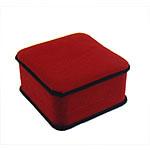 Velveteen byzylyk Box, Drejtkëndësh, i kuq, 94x93x47mm, 12PC/Qese,  Qese