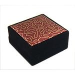 Saten byzylyk Box, with Velveteen, Drejtkëndësh, 92x91x47mm, 12PC/Qese,  Qese