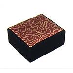 Gjerdan saten Box, with Velveteen, Drejtkëndësh, 82x70x36mm, 12PC/Qese,  Qese