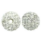 Tschechische Strass Perlen, Lehm pflastern, rund, mit 99 Stück Strass & mit tschechischem Strass, 10mm, Bohrung:ca. 1mm, 10PCs/Tasche, verkauft von Tasche