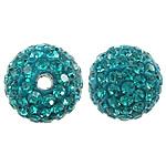 Çekë Beads diamant i rremë, Round, asnjë, me diamant i rremë, Smerald, PP11, 10mm, : 2mm, 10PC/Qese,  Qese