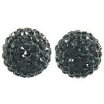 Çekë Beads diamant i rremë, Round, asnjë, me diamant i rremë, Reaktiv, PP13, 12mm, : 2mm, 10PC/Qese,  Qese