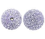Çekë Beads diamant i rremë, Round, asnjë, me diamant i rremë, Vjollcë, PP13, 12mm, : 2mm, 10PC/Qese,  Qese