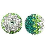Çekë Beads diamant i rremë, Round, asnjë, me diamant i rremë, PP13, 12mm, : 2mm, 10PC/Qese,  Qese