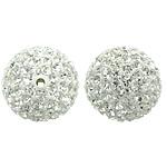 Çekë Beads diamant i rremë, Round, asnjë, me diamant i rremë, Kristal, PP13, 14mm, : 2mm, 10PC/Qese,  Qese