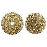 Çekë Beads diamant i rremë, Round, asnjë, me diamant i rremë, PP13, 14mm, : 2mm, 10PC/Qese,  Qese