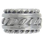 Stainless Steel Beads European, Rondelle, pa karrem, 14x8mm, : 8mm, 30PC/Qese,  Qese