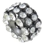 Beads bizhuteri Diamant i rremë, Rondelle, asnjë, me diamant i rremë, Kristal, 17x10mm, : 4mm, 50PC/Qese,  Qese