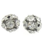 Beads bizhuteri Diamant i rremë, Round, asnjë, me diamant i rremë, Kristal, 10x10mm, : 1.2mm, 100PC/Qese,  Qese