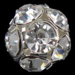 Beads bizhuteri Diamant i rremë, Round, asnjë, me diamant i rremë, Kristal, 20x20mm, : 1.8mm, 20PC/Qese,  Qese
