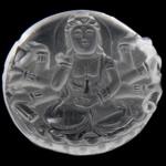 Pendants Natyrore kuarc, Kuarc qartë, Buda, natyror, 52x52x12mm, : 0.5mm,  PC